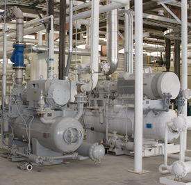 picture of electrical engineering  - A gas compressor used in the fuel and power industry. ** Note: Slight graininess, best at smaller sizes - JPG