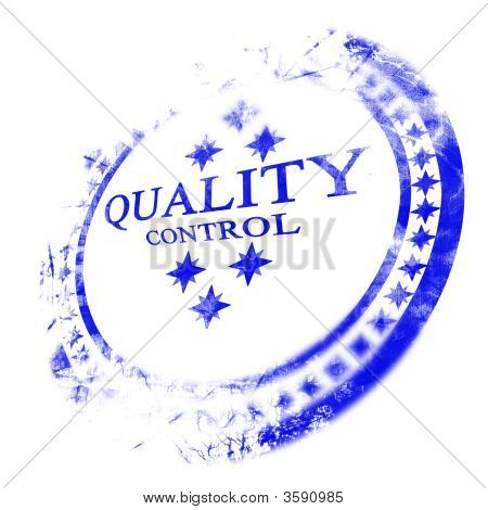 Blue Quality Control Stamp