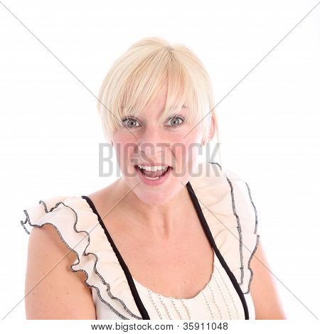Cheerful Blonde Woman