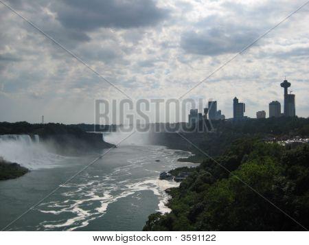 The Niagara Falls Ontario Canada Skyline