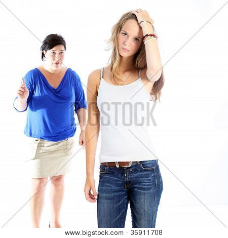 Mother Admonishing Her Daughter