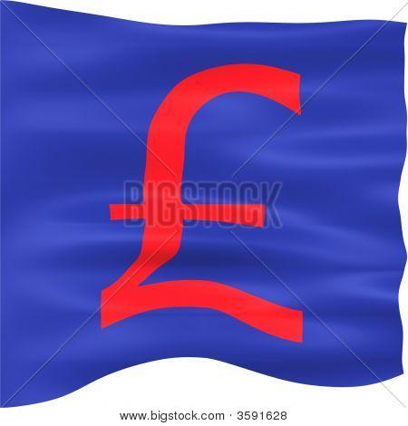 3D British Pound Flag