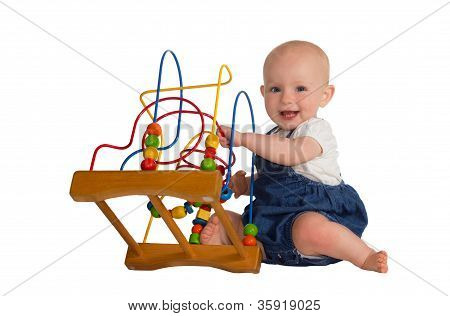 Happy Baby With Educational Toy