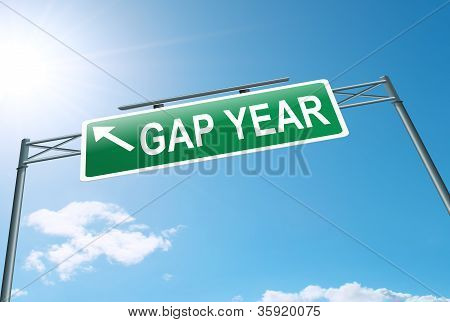 Gap Year Concept.