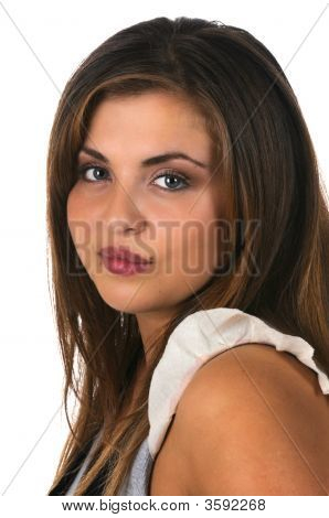 Pretty Hispanic Model