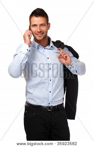 Young Businessman With Cellphone