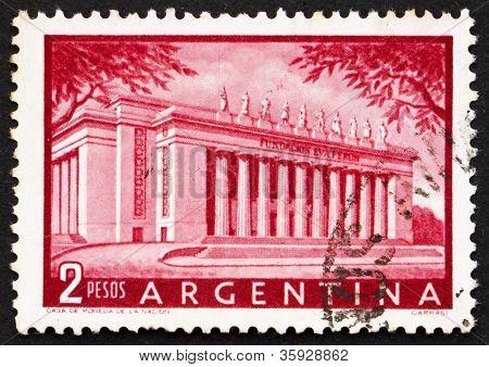 Selo postal Argentina 1954 Eva Perón Foundation Building