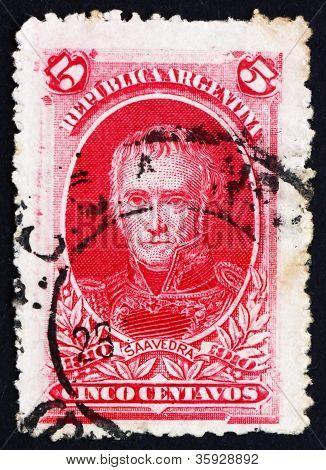 Postage stamp Argentina 1910 Cornelio Saavedra