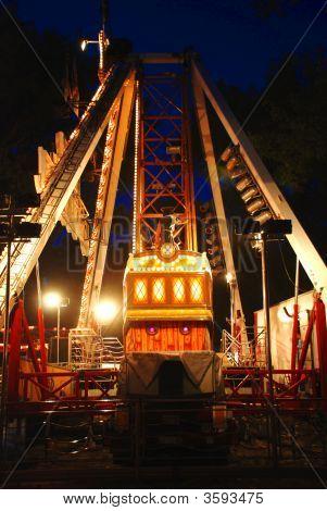 Carousel In Evening Park