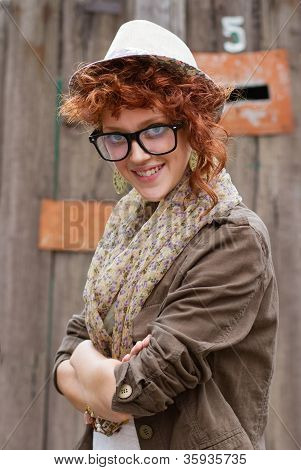 Smiling Hipster Girl