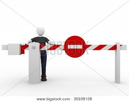 Forbidden Barrier Man