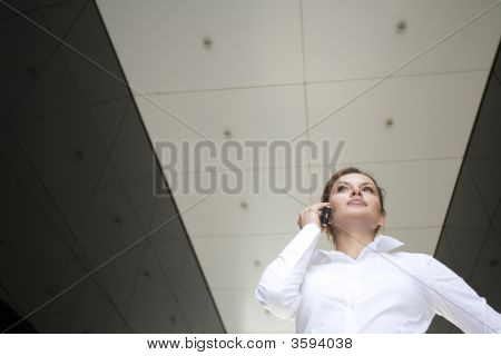 Businesswoman Outside A Modern Building
