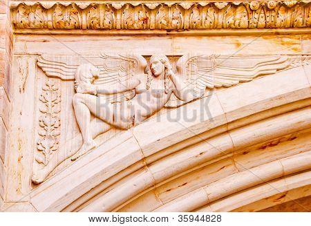 Stone Angel Arch Yale University Art Building
