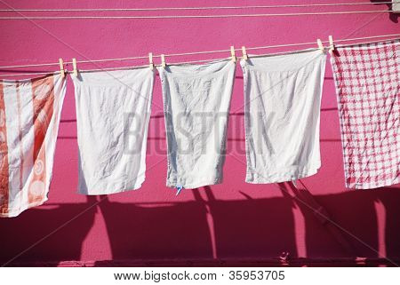 Towels on Washing Line