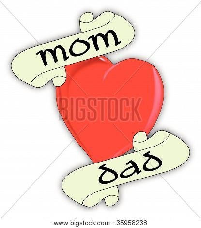 Mom And Dad Heart