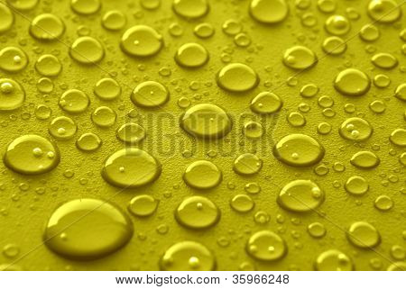 Yellow Water Drops