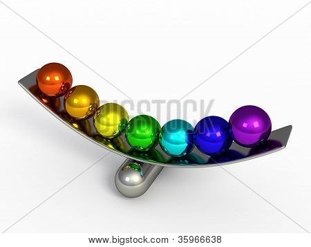 Isolated Color Spheres 3D Render