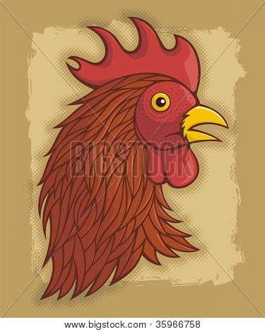 Red Rooster's Head