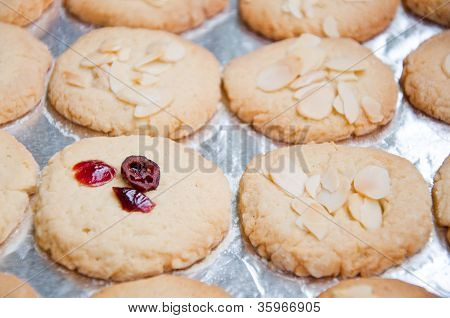hot cookie sweets on the plate