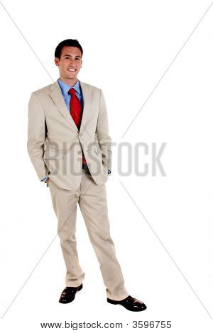 Full Length Portrait Of Businessman.