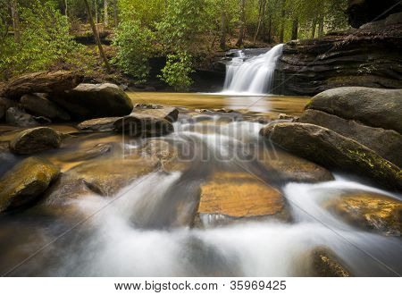 Sc Waterfall Landscape Photography Blue Ridge Mountains Relaxing Nature