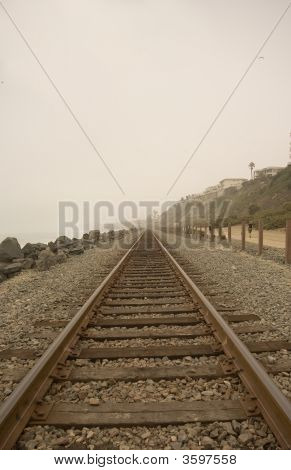 Railroad Tracks At 204 In San Clemente