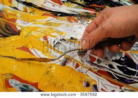Malerei mit Spachtel