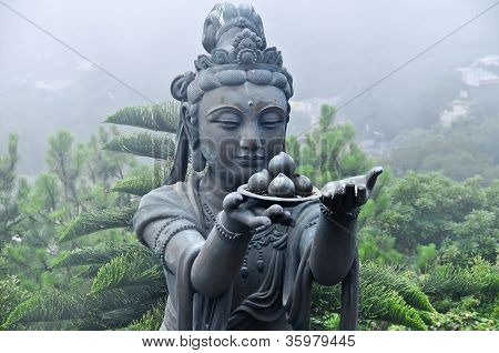 Statue By Tian Tan Buddha