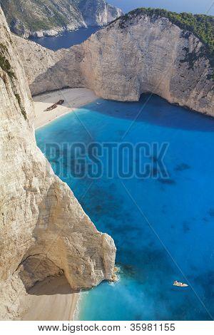 Superb beach Navagio in Zakynthos, Greece