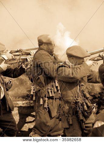 Cena de guerra vintage