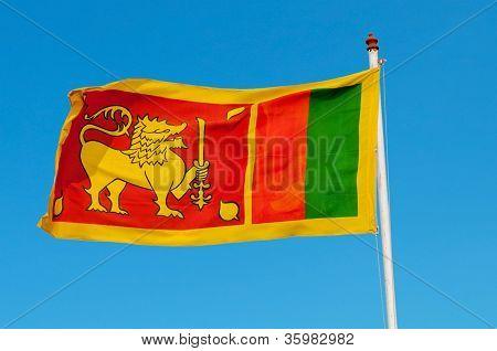 Sri Lanka bandera en Flagstaff.