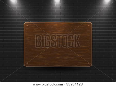 Wooden Sign On The Wall