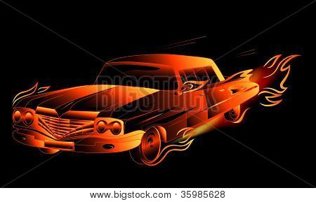 burning hot rod