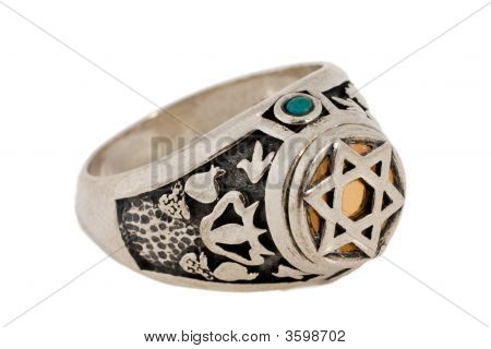 Cabalistic Silver Ring