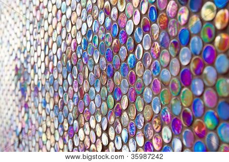Round Glass Mosaic Pattern