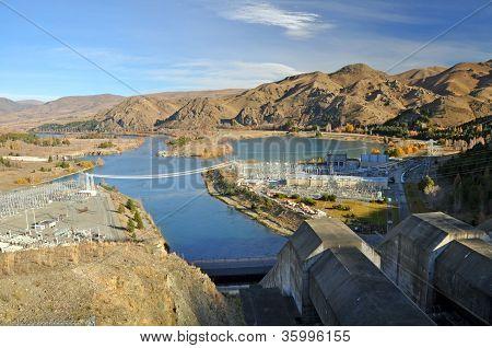 Benmore Dam Penstocks & Power Station, Otago, New Zealand
