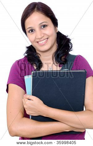 Cheerful Young Female Student