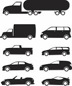 Постер, плакат: Автомобили Икона Set