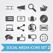 Постер, плакат: Социальный медиа Иконы