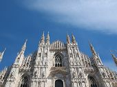 pic of milan  - Duomo di Milano gothic cathedral church - JPG