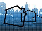 Cityscape And Housing Symbols