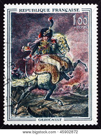 Postage Stamp France 1962 Guards Officer On Horseback