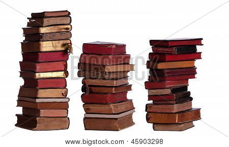 Concept Of Stacked Old Books