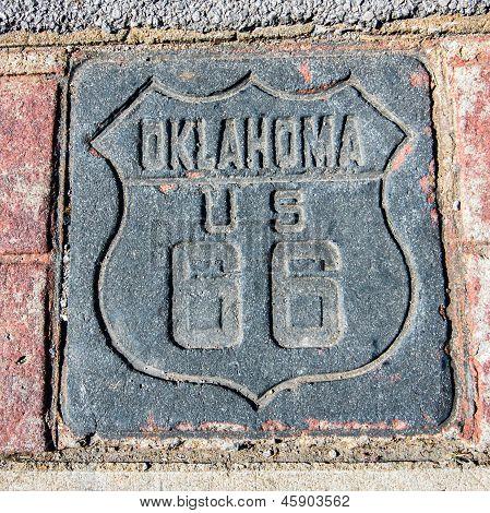 Oklahoma U.S. 66 escudo na rota 66, Tulsa, OK