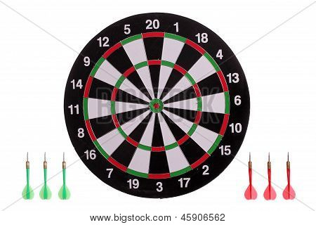 Dart Board With Arrows