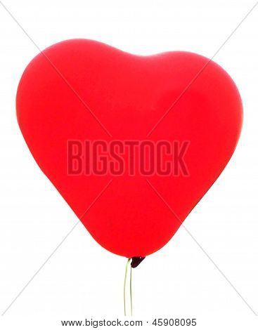 A Red Heartshaped Baloon