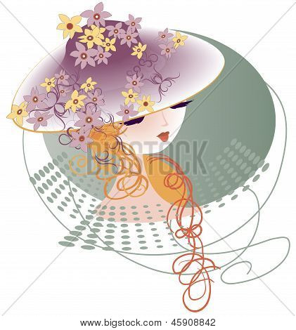 A Hat Decorated With Flowers