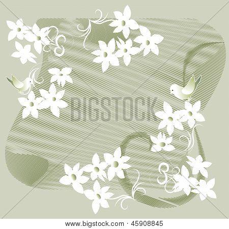 Garland Of White Flowers