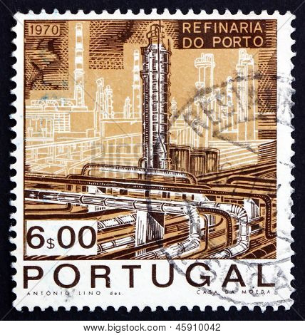 Postage Stamp Portugal 1970 Catalytic Cracking Tower