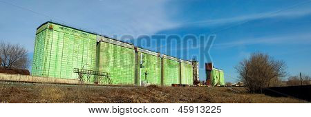 granary warehouse building Russian view
